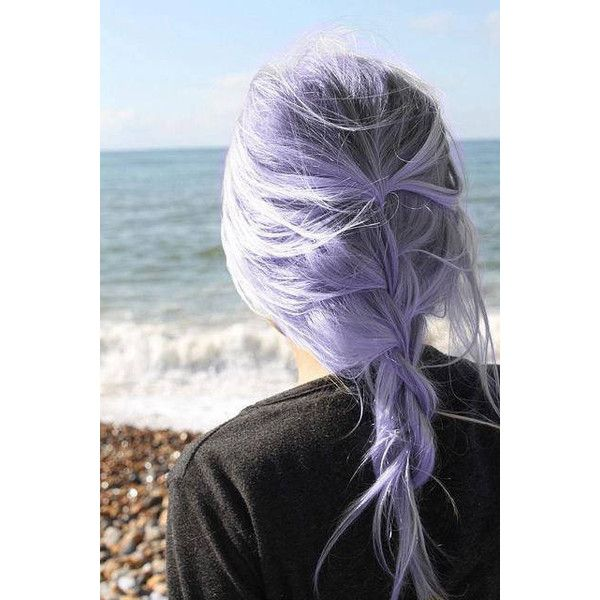 Lilac & White Hair Liked On Polyvore Featuring Hair