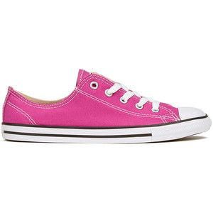 e4502c1a303ad Converse Women s Chuck Taylor All Star Dainty Ox Trainers - Plastic Pink  Black White