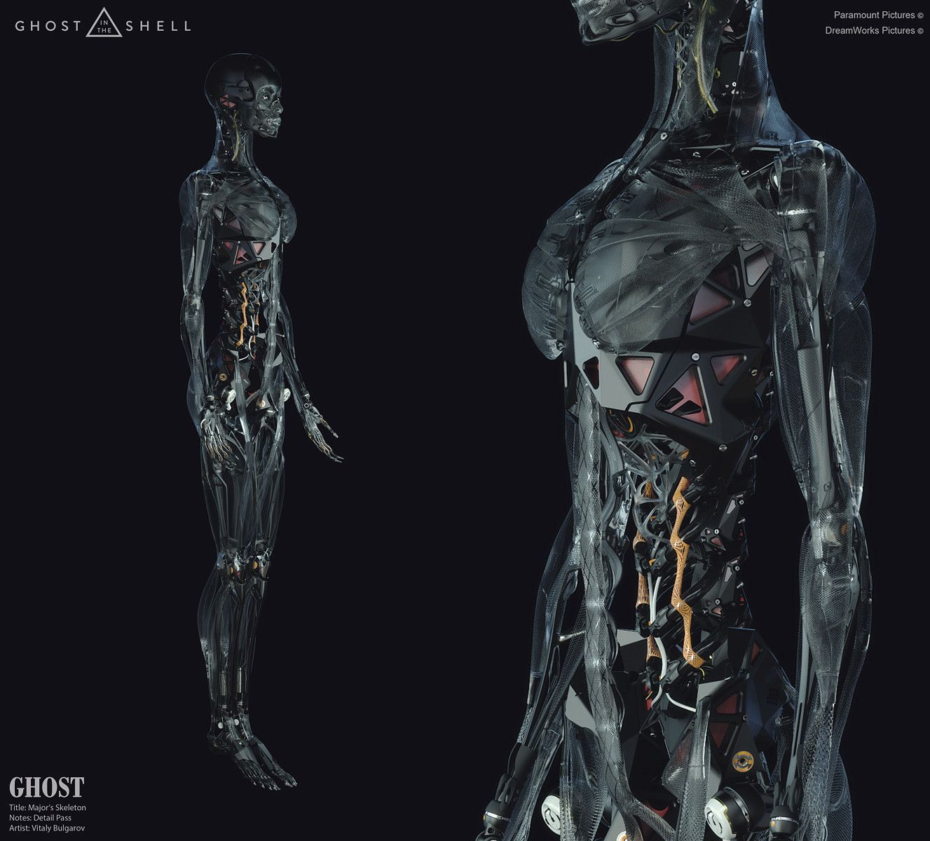 Artstation Concept Design Work For Ghost In The Shell Film Vitaly Bulgarov Ghost In The Shell Female Cyborg Robots Concept