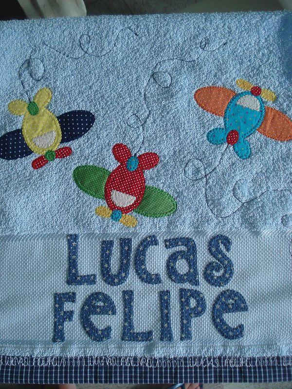 Toalhinha de m o toallas bebe y apliques for Apliques para toallas