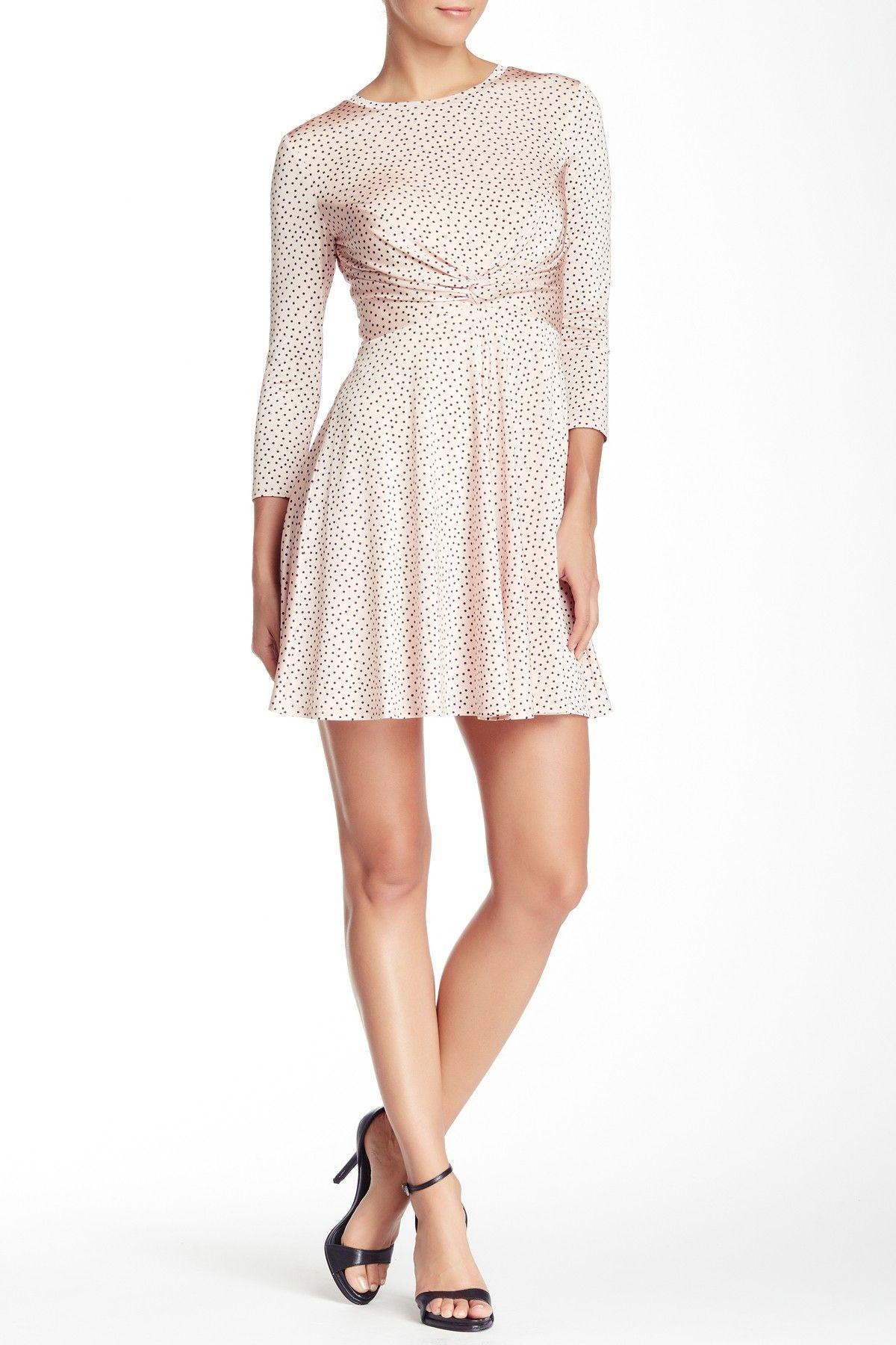 b4ae8e77f3a 3 4 Sleeve Twist Front Dotted Dress by A.B.S. by Allen Schwartz on   HauteLook