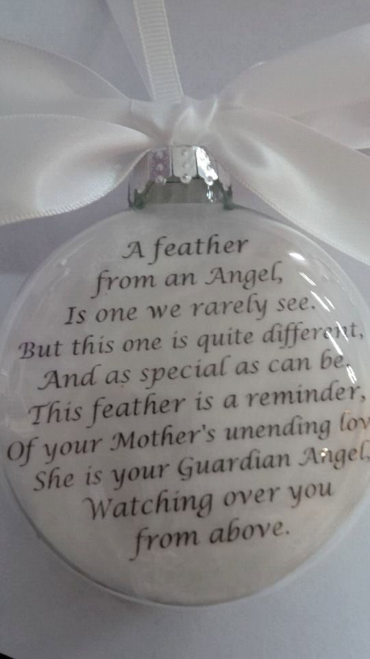 in memory ornament of loved one  u0026quot a feather from a guardian