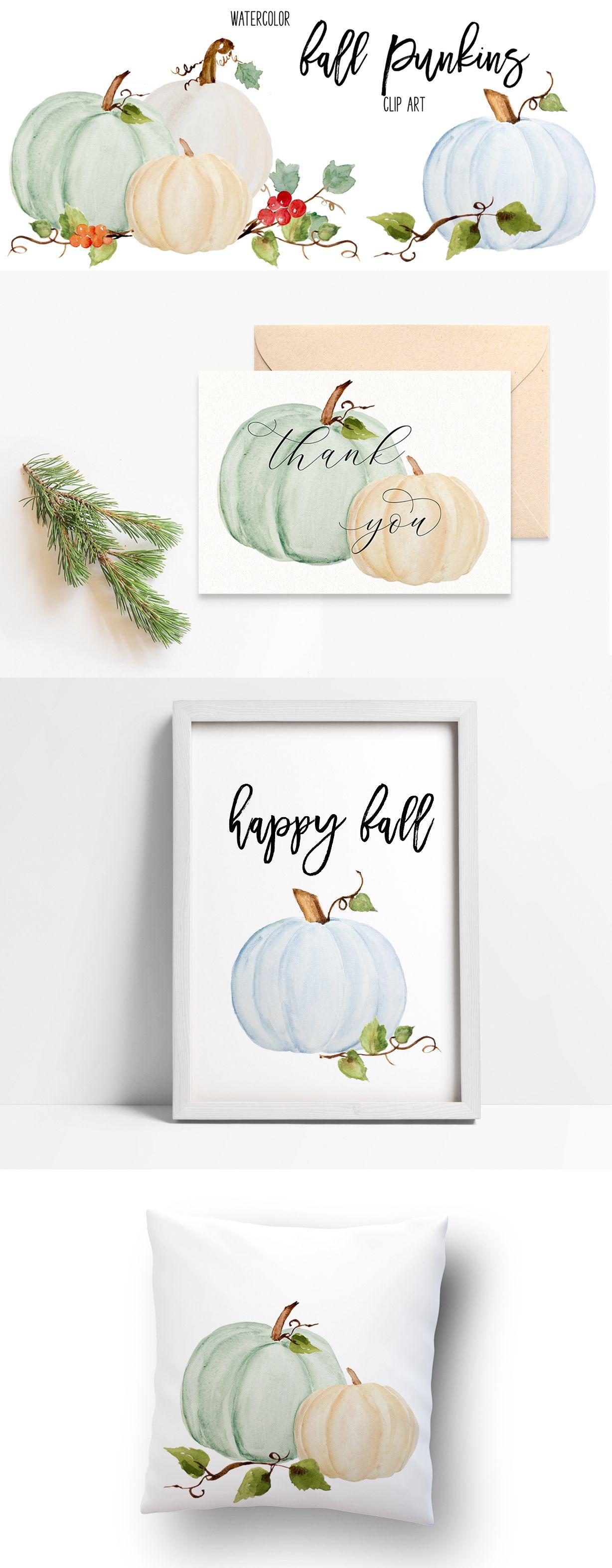 Pumpkin Clip Art Fall Watercolor Clipart Dusty Blue Etsy In 2021 Clip Art Fall Watercolor Watercolor Pumpkins