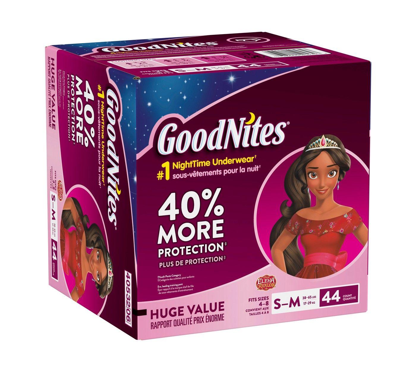 GoodNites Girls  NightTime Underwear - Size L XL (34ct)  NightTime ... c5cccdbc8