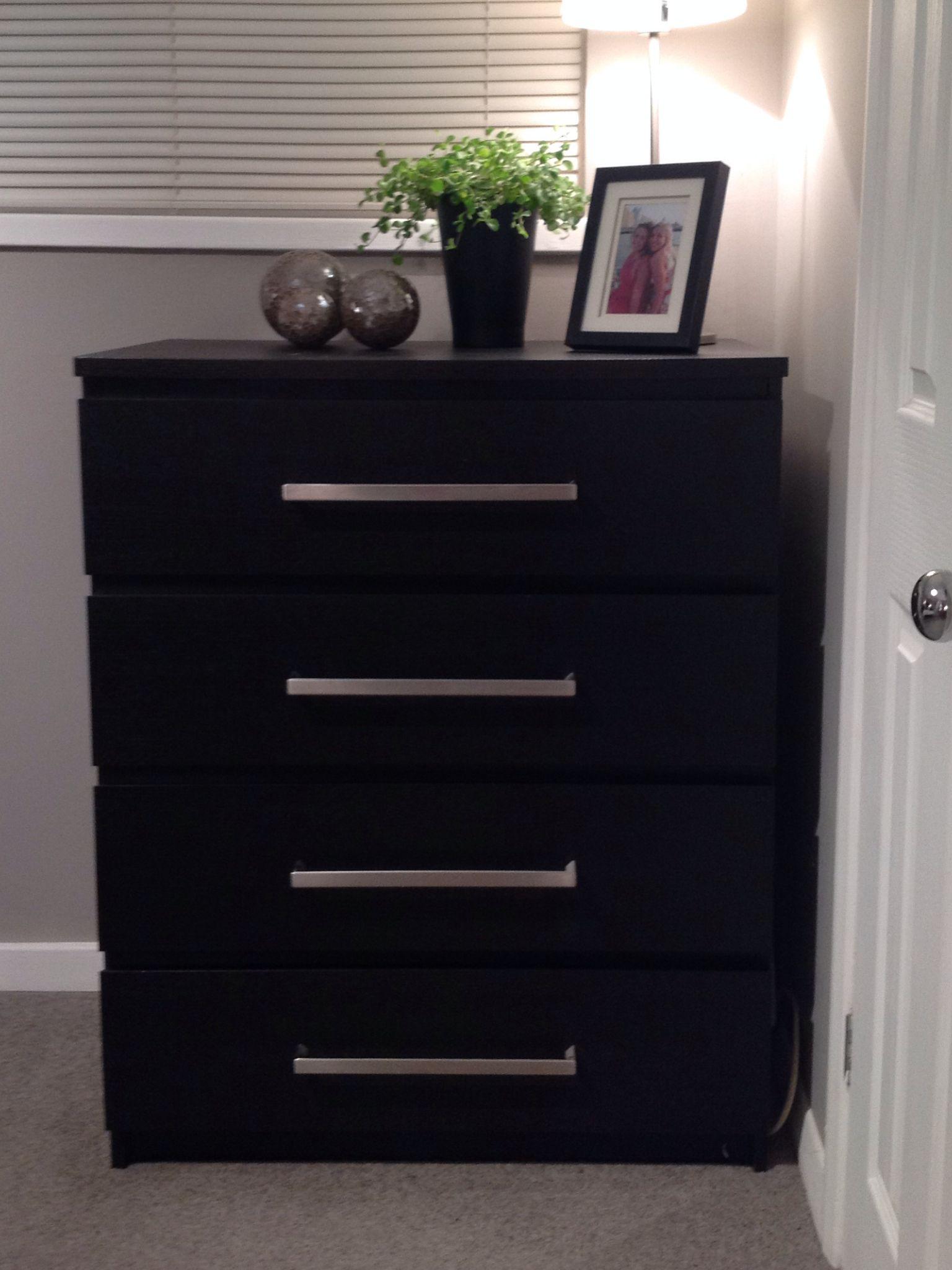 Ikea Malm chest of drawers with ikea Tyda handles | Hacks ...