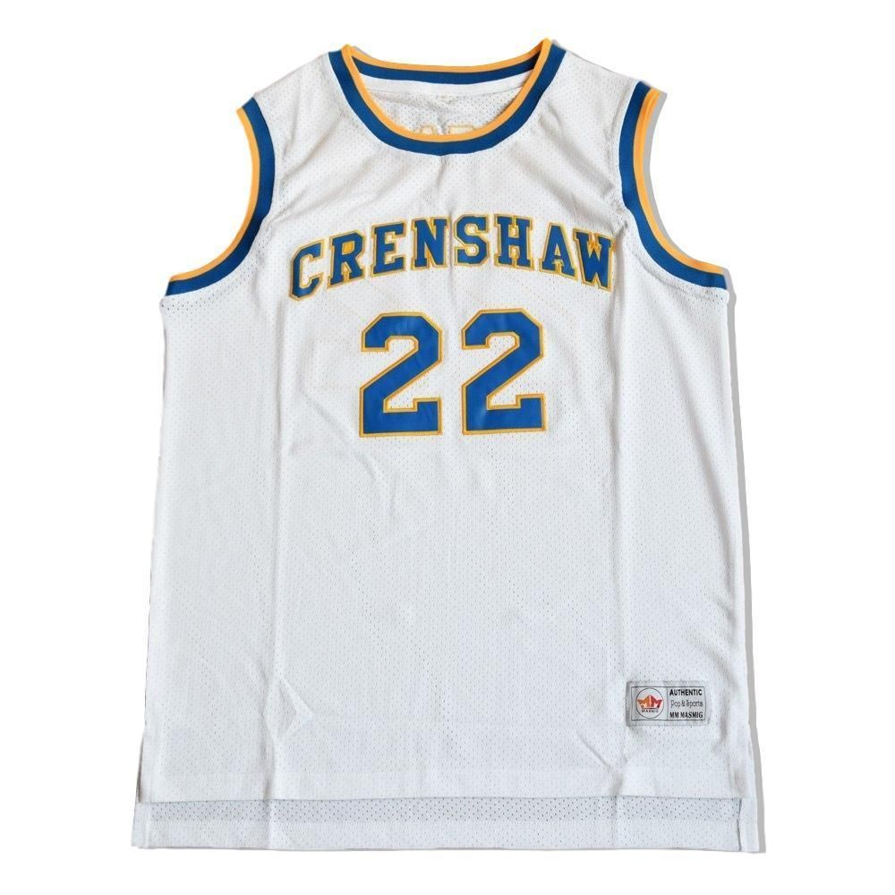 c14f45c1f7a6 Quincy McCall  22 Crenshaw High School Jersey Stitched White Love and  Basketball