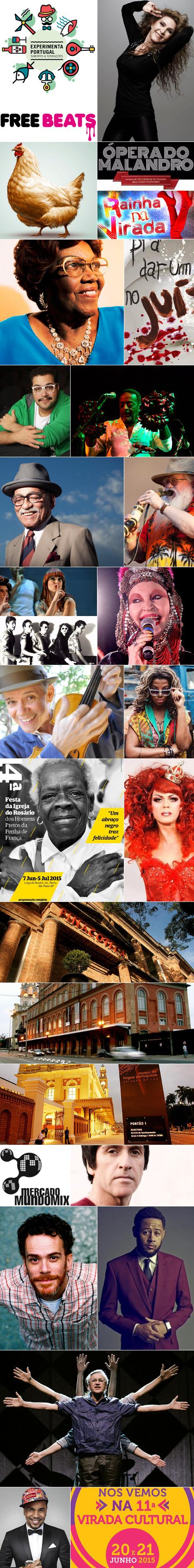Com um mês de atraso, a 11ª edição da Virada Cultural ocorre neste fim de semana (20 e 21/6) na cidade de São Paulo. Gratuito, o evento oferece mais de 1.500 atrações. Na imagem interativa abaixo, veja as minhas 34 apostas para aproveitar a festona...
