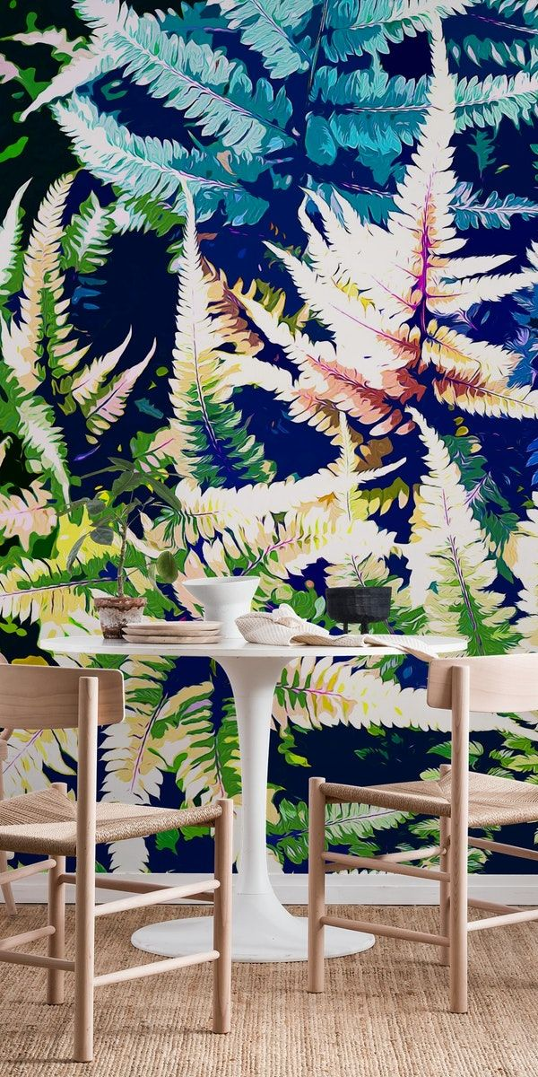 Vintage jungle Wall mural (With images) Jungle wallpaper