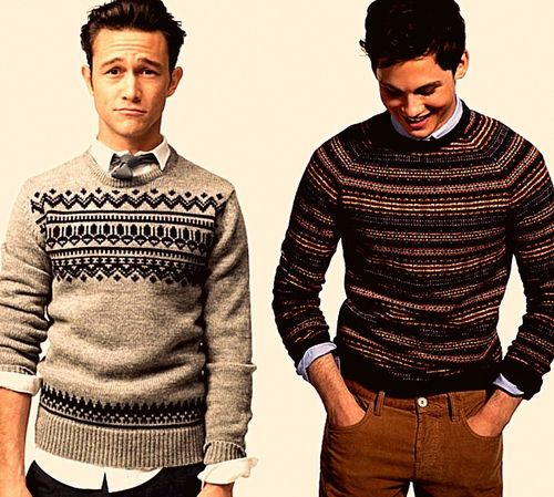 Fair isle sweaters for Winter. Joseph Gordon Levitt and Logan ...
