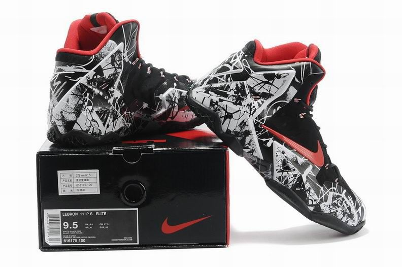 LebronJames294 Lebron 11, Black and red, Red shoes