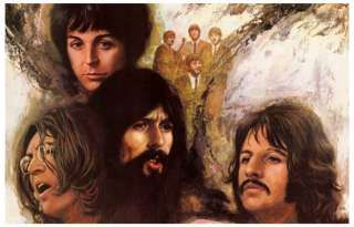 Beatles Psychedelic Poster | The Beatles Let It Be Psychedelic Art 11x17 Poster