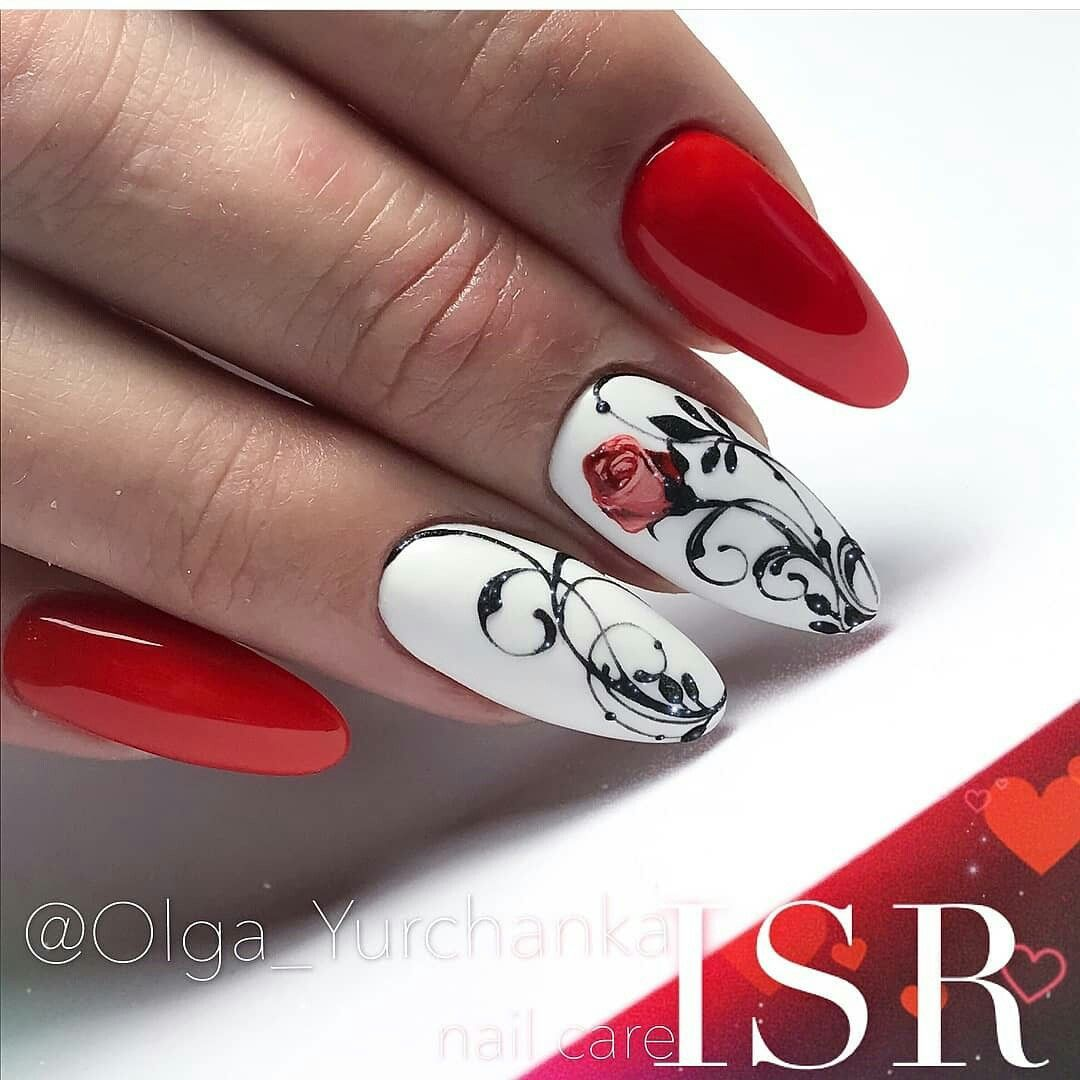 Unghiii Rosii Unhii In 2019 Nail Art Red Nail Art Nails