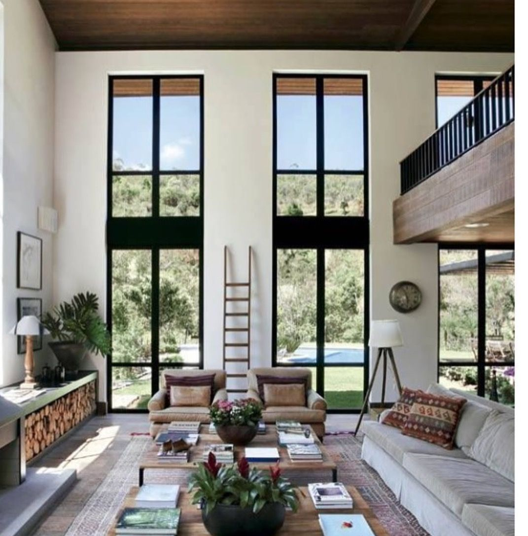 Love, especially the oriental rug on top of the grey cement | Home ...