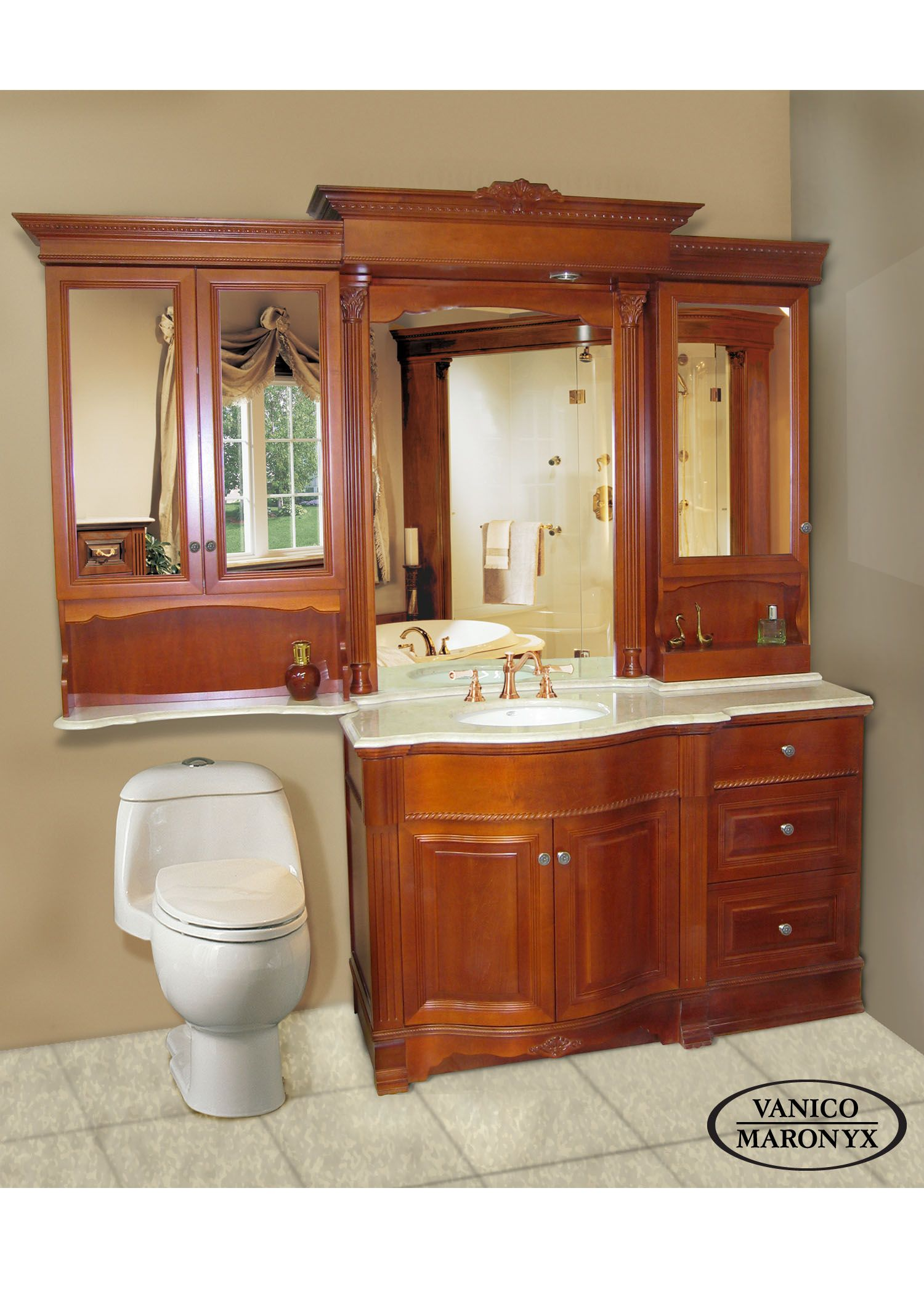 Vanico Maronyx S Beautiful Bath Vanity With Maple Wood Chateau
