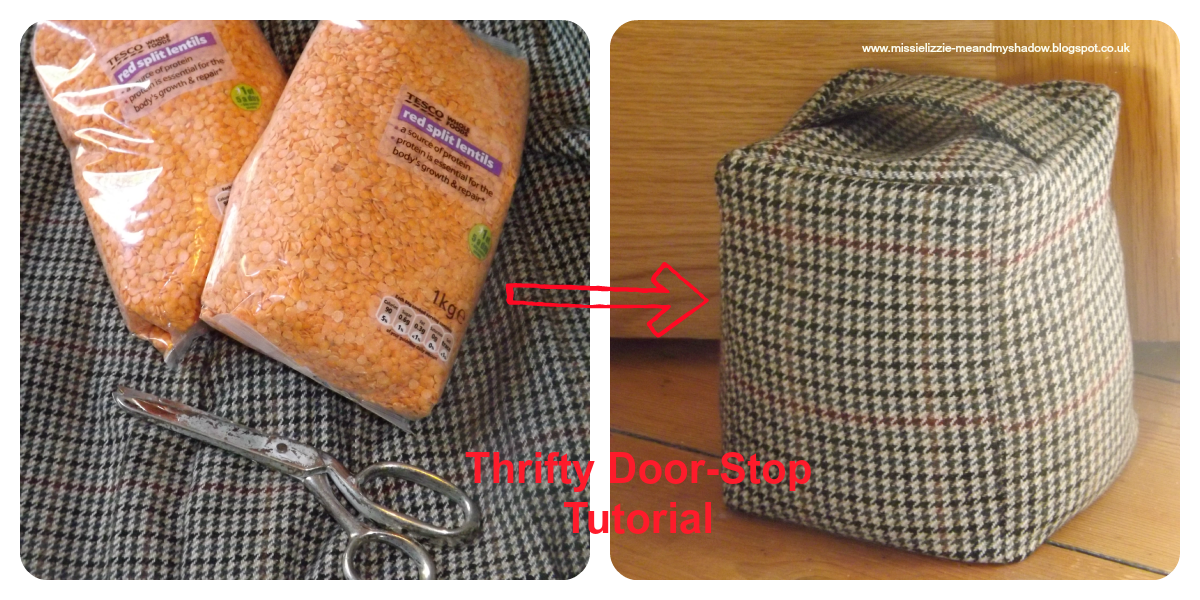 Thrifty Tweed Door-Stop Tutorial (doorstop, DIY doorstop, door stop) |  Crafts, DIY & Projects | Pinterest | Tweed, Doors and Tutorials
