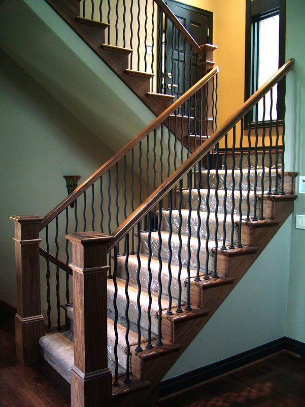 Click to Close | Iron balusters, Wood staircase, Stairs