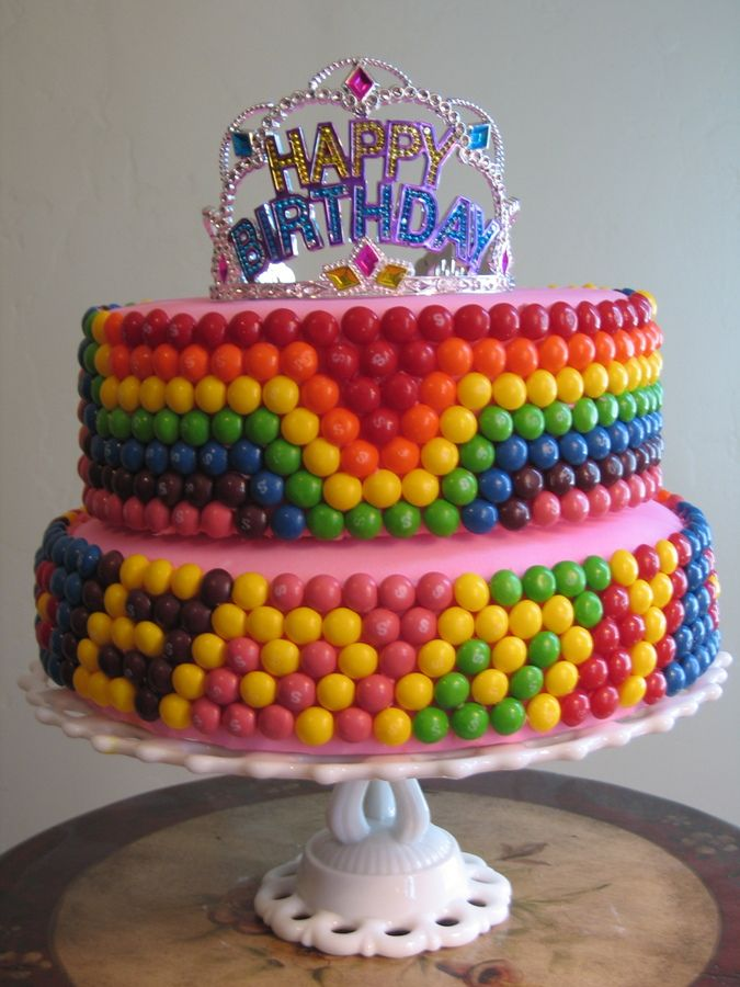 Personalized Skittles Birthday Cake Cool It Has Emmys Name On