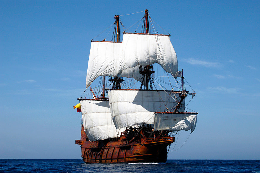Aboard A 17th Century Spanish Galleon Sailing Ships Sailing