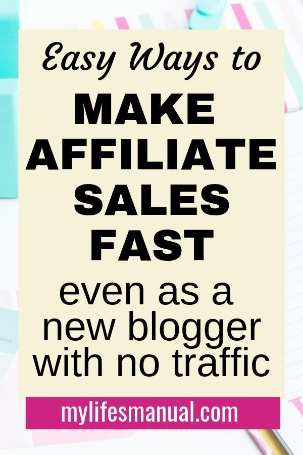 Affiliate marketing for beginners. How to Make Affiliate Sales With No Traffic. Want to quickly make affiliate sales with a new blog? Wondering how long it takes to make money from affiliate marketing when you don't have enough blog traffic? Learn how to earn and increase your affiliate income even without a ton of blog traffic using the affiliate marketing strategies in this post. Click for more. #affiliatemarketing #bloggingtips #blogtips #makemoneyonline #makemoneyblogging #blog
