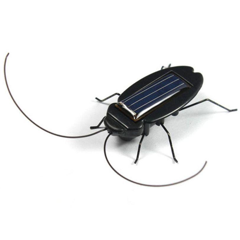 Quente Solar Energy Power Preto Cockroach Bug Toy Para Criancas Student A8311 Bug Toys Solar Power Solar Power Energy