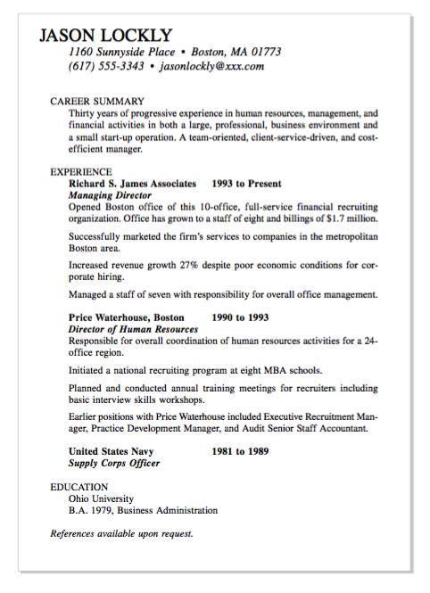 Example Of Managing Director Resume Examples Resume Cv Resume Resume Examples Resume Cv