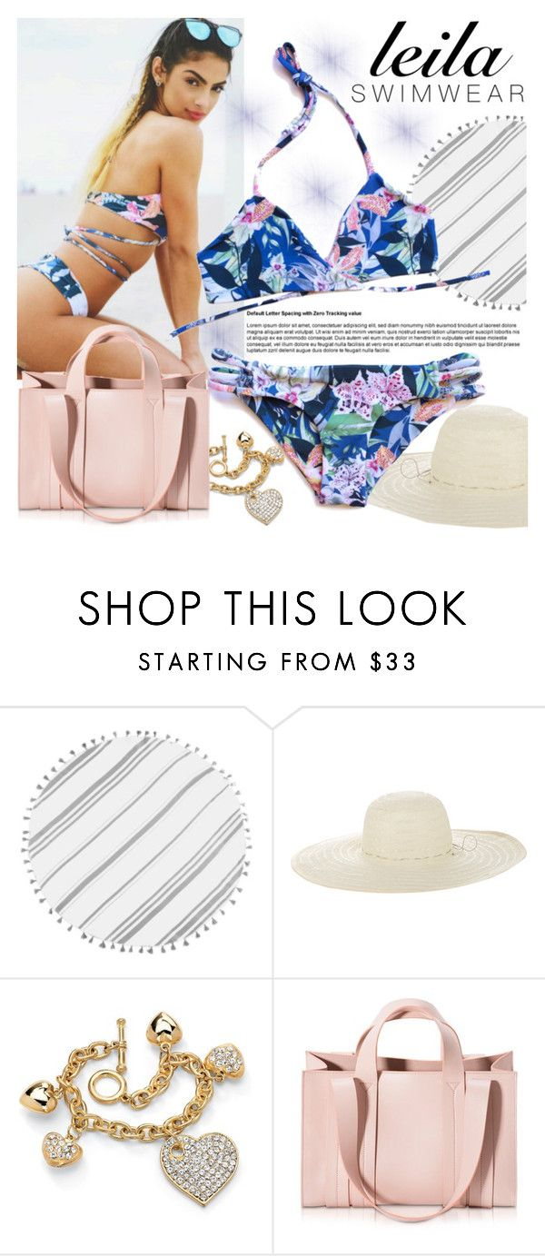 """LEILA SWIMWEAR"" by gaby-mil ❤ liked on Polyvore featuring Turkish-T, Jennifer Ouellette, Palm Beach Jewelry, Corto Moltedo, swimwear and leilaswimwear"