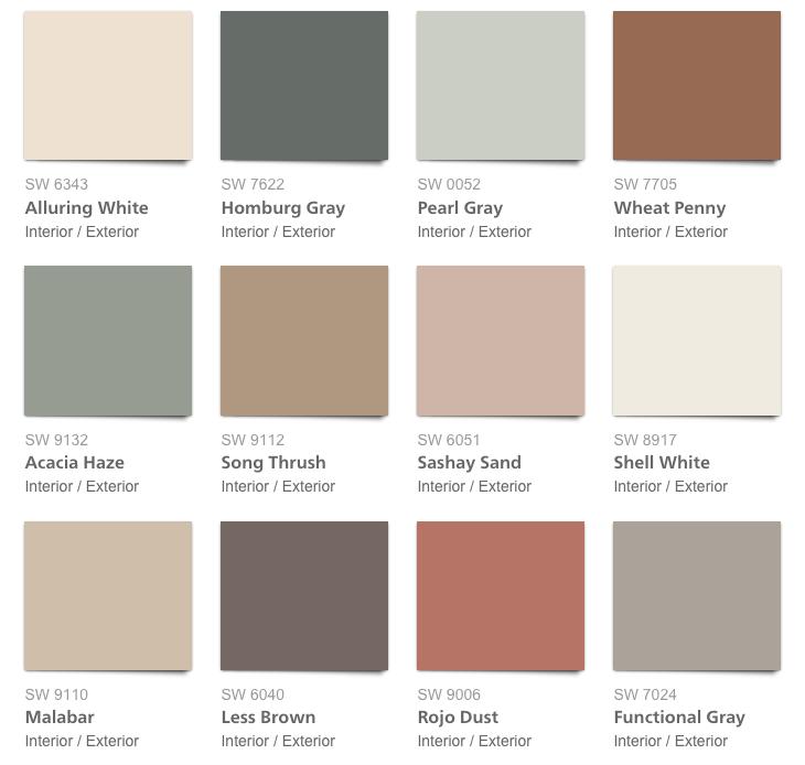 Sherwin Williams Color Palette 2018 Sincerity