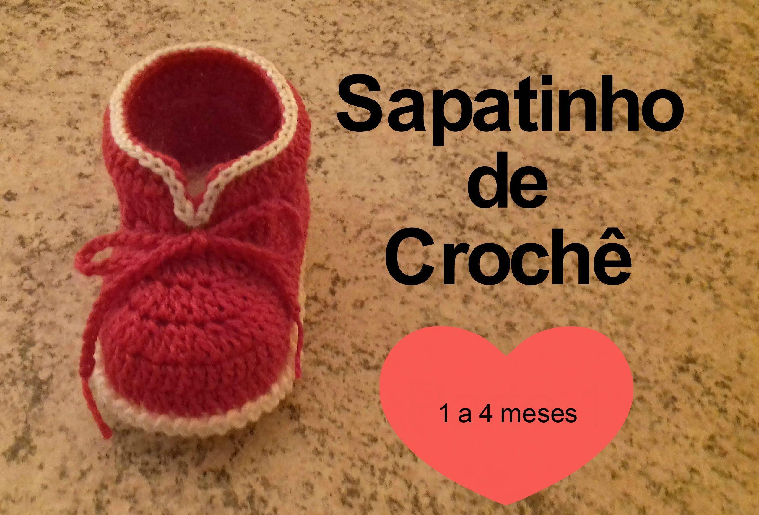 Sapatinho de Crochê   croche bebe   Pinterest   Zapatos, Bebe y Bebé