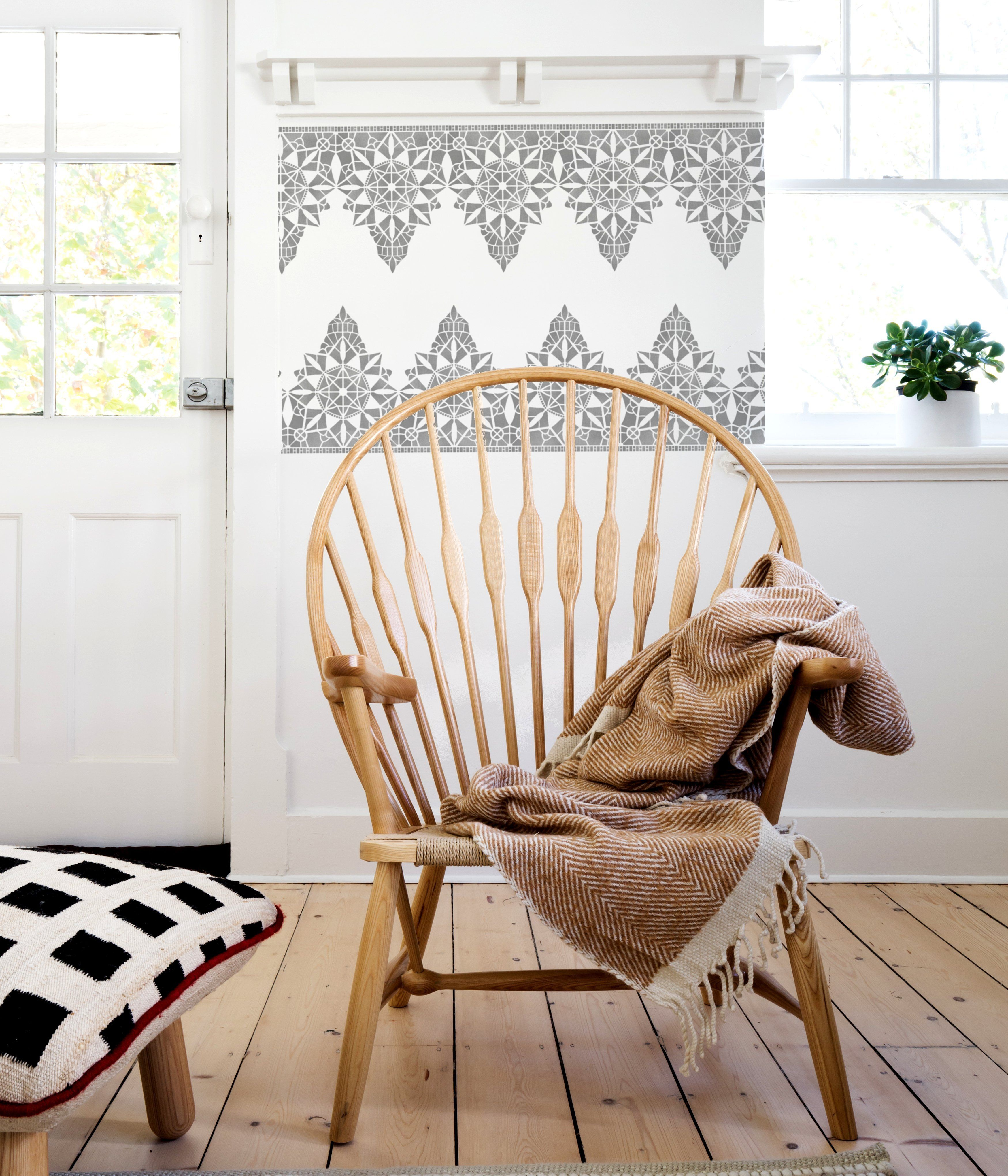 MACRAME Border Stencil Stencil furniture, Furniture