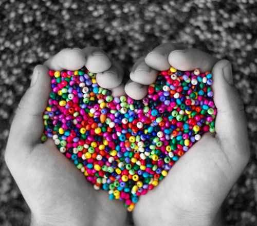 Black and white color colorful edit heart love multicolor