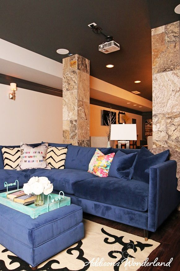 Beautiful And Luxurious Bella Navy Velvet Pia Sectional Sofa From  @jonathanlouis! The Perfect Piece