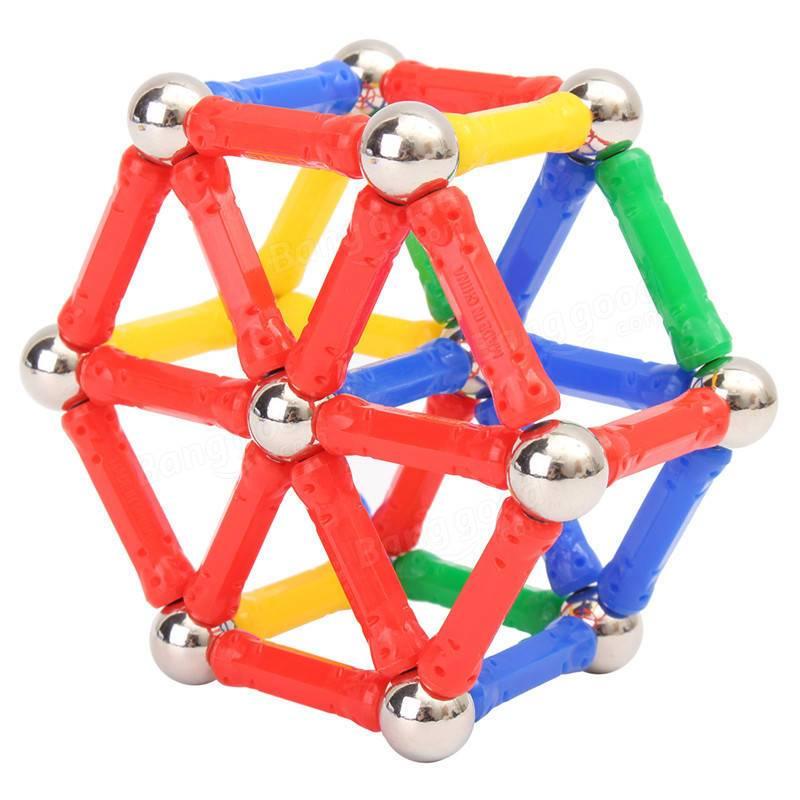 diy magnetic sticks and balls building toys set