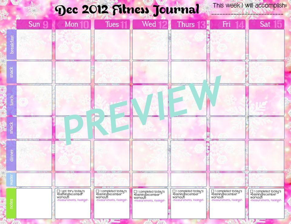 DashingDecember Workout Calendar!!! Who\u0027s ready!? Fitness