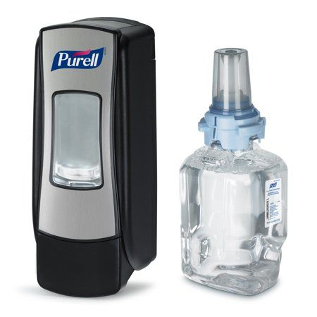 Purell Hand Sanitizer Starter Kit Dispenser Refill 1 Kit