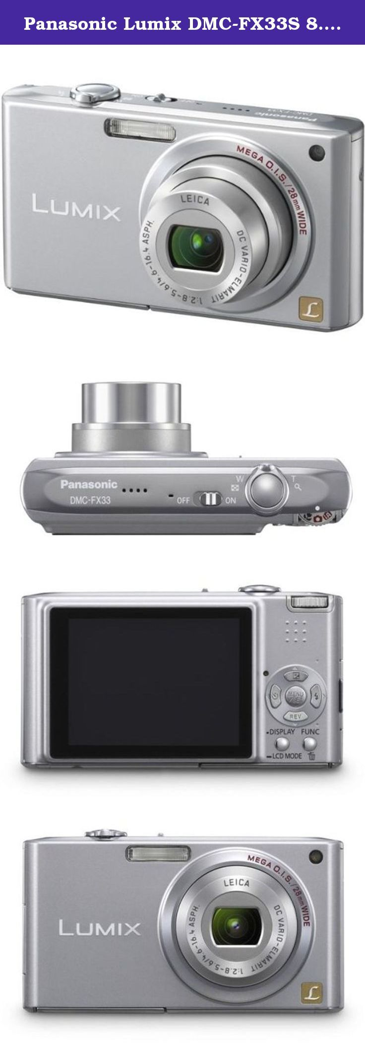 Panasonic Lumix DMC-FX33S 8.1MP Digital Camera with 3.6x Wide Angle MEGA Optical Image Stabilized Zoom (Silver). The Panasonic DMC-FX33S Lumix 8.1 Megapixel Digital Camera comes equipped with advanced Mega O.I.S. Optical Image Stabilization that detects even the tiniest camera movement so it can automatically adjust the lens to compensate. Get clear pictures every time without any loss of image detail or clarity with Mega O.I.S. This camera will not only help eliminate blurring from...