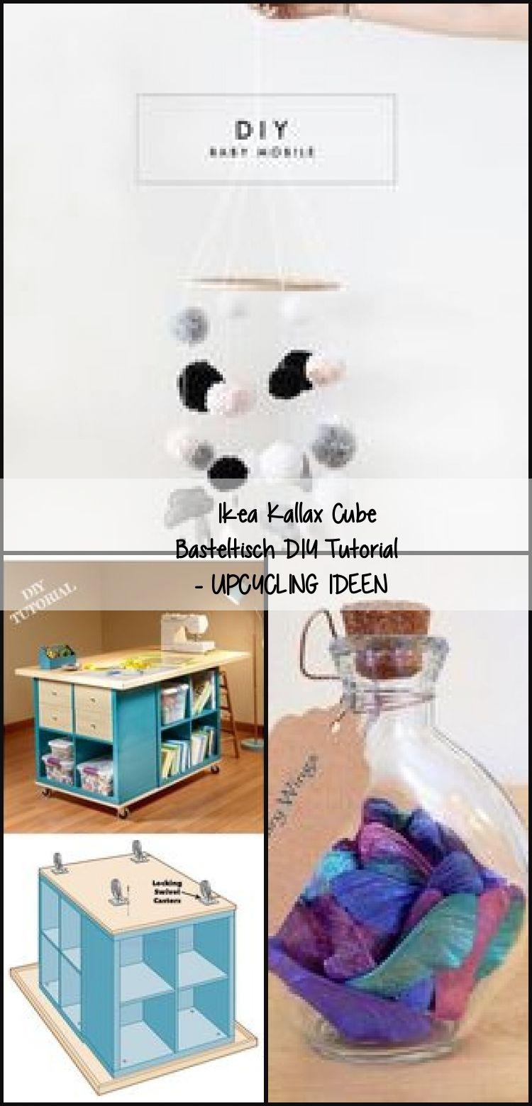 Ikea Kallax Cube Crafting Table Diy Tutorial Upcycling Ideas Diyideasclothes Diyideasor Craft Table Diy Diy Table Craft Table