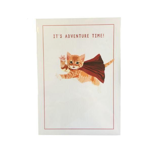 Adventure Kitty Ginger Kitten Print