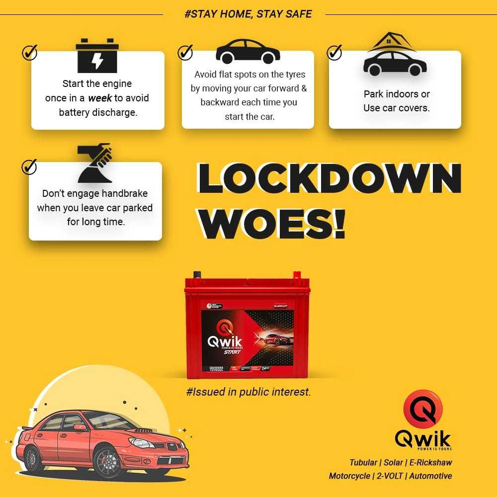 Lockdown Woes On Battery Maintainence Car Fix Driving Tips Move Car