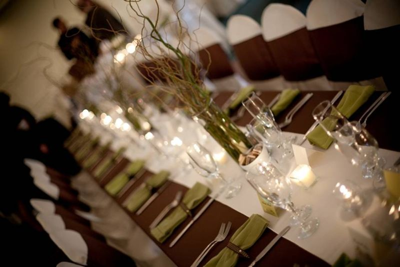 simple table arrangement at the St. Paul College Club