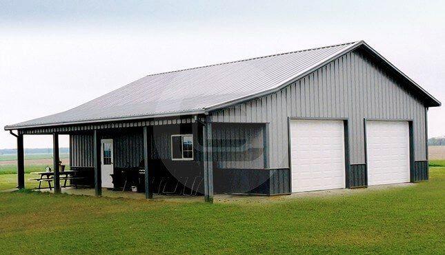 Photo of 42×41 Garage Workshop with Porch   42' Wide Workshop