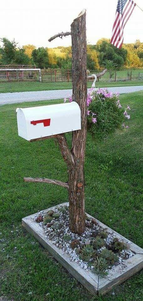 Cabin. Mailbox Post ...