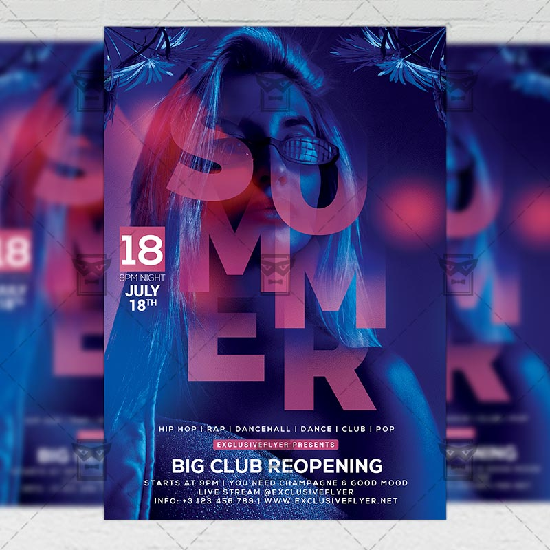 Download Summer Dance Party Flyer Psd Template Exclusiveflyer In 2020 Party Flyer Psd Templates Psd Flyer Templates