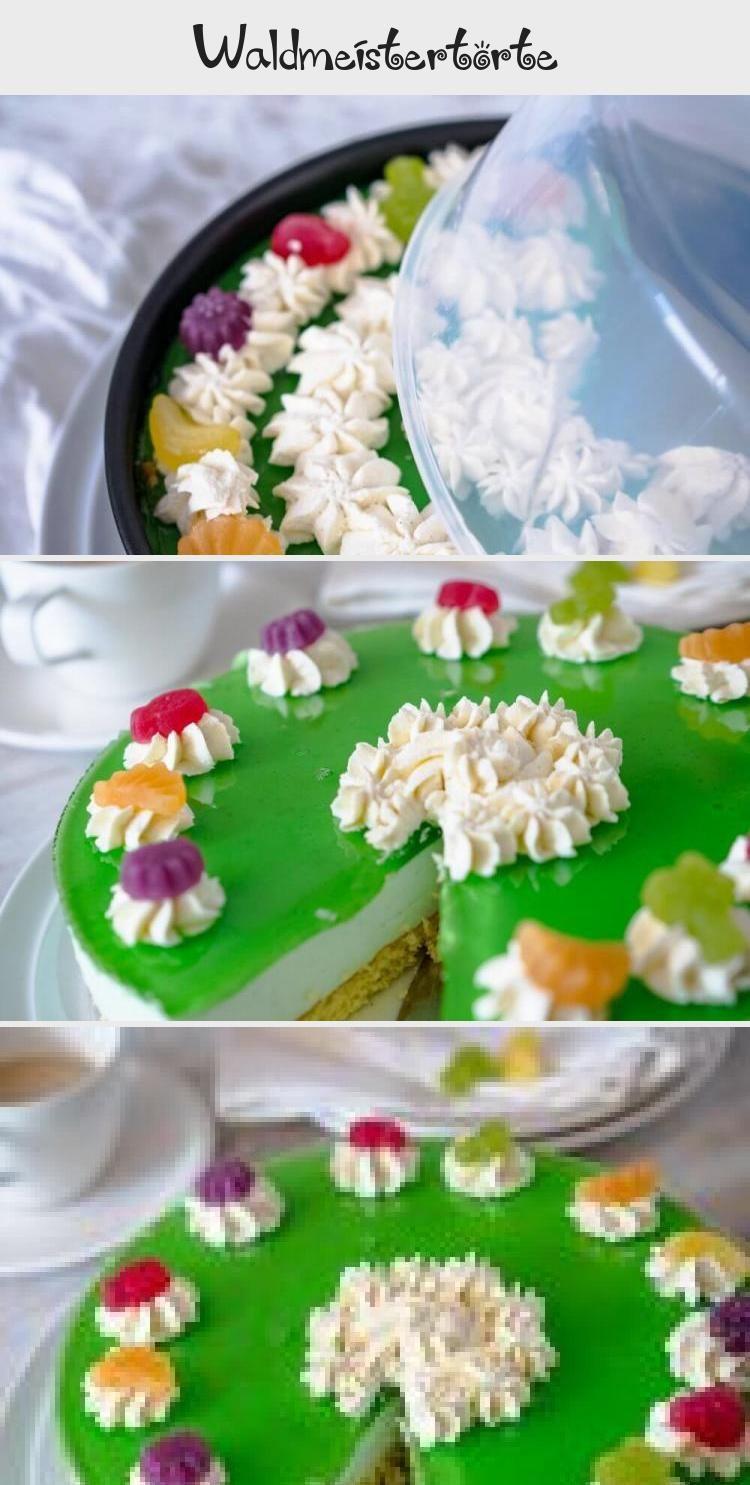 Waldmeistertorte Die Waldmeistertorte ist perfekt für den Sommer. Ein erfrischender No Bake Kuchen mit Joghurt und Waldmeister, der einfach zu machen ist.