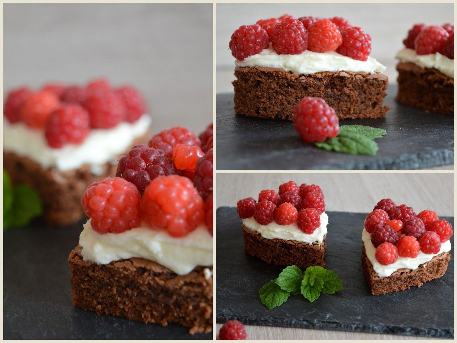 Julias zuckersüße Kuchenwelt BrownieHerzen mit frischen