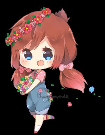 Happy Chibi Commission By Macaarons Cute Kawaii Drawings Kawaii Drawings Anime Chibi