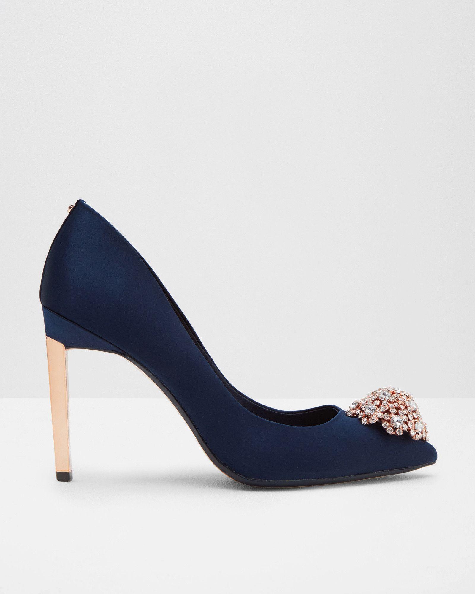 Pumps mit Broschendetail - Marineblau | Schuhe | Ted Baker DE ...