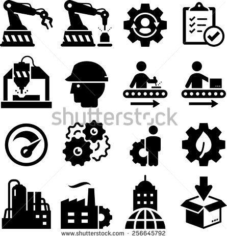 Manufacturing Stock Vectors Vector Clip Art Factory Icon Icon Set Vector Icon
