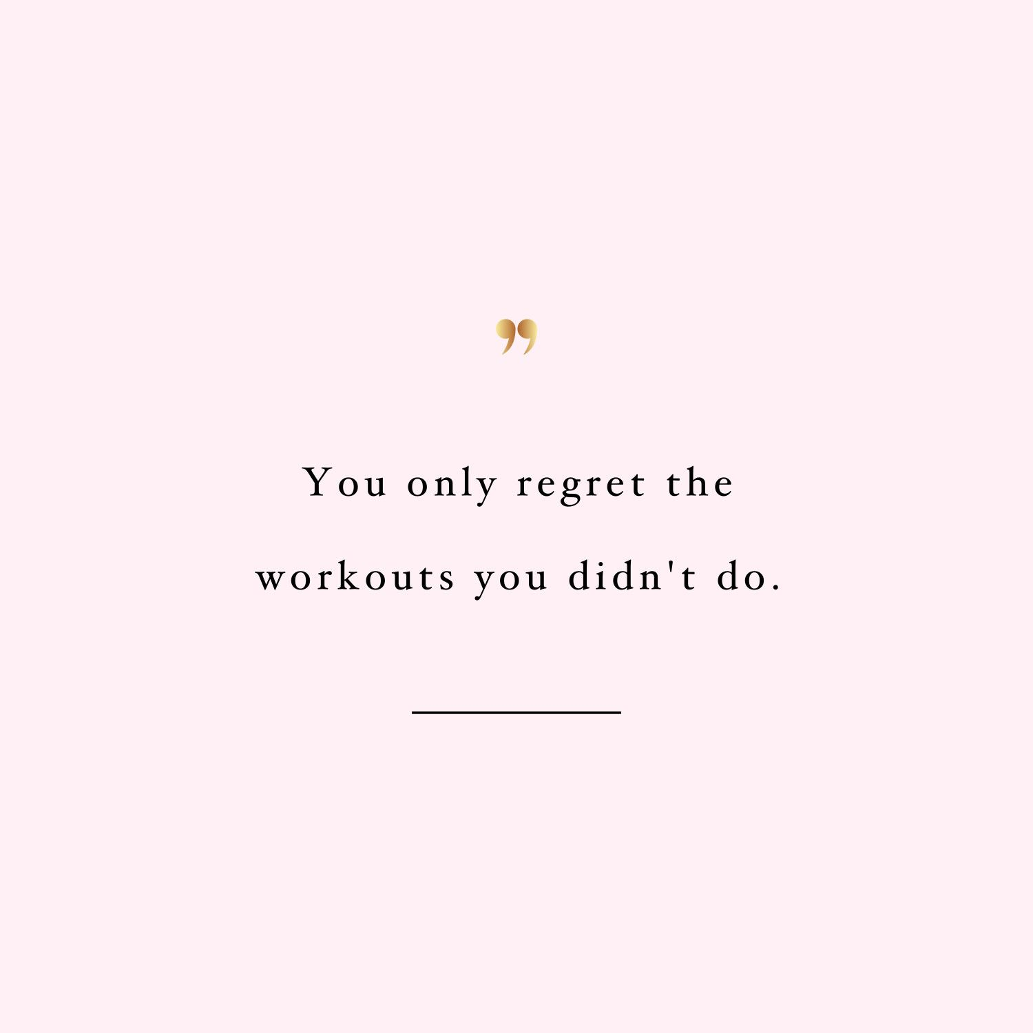 No Regrets   Inspirational Workout Quote