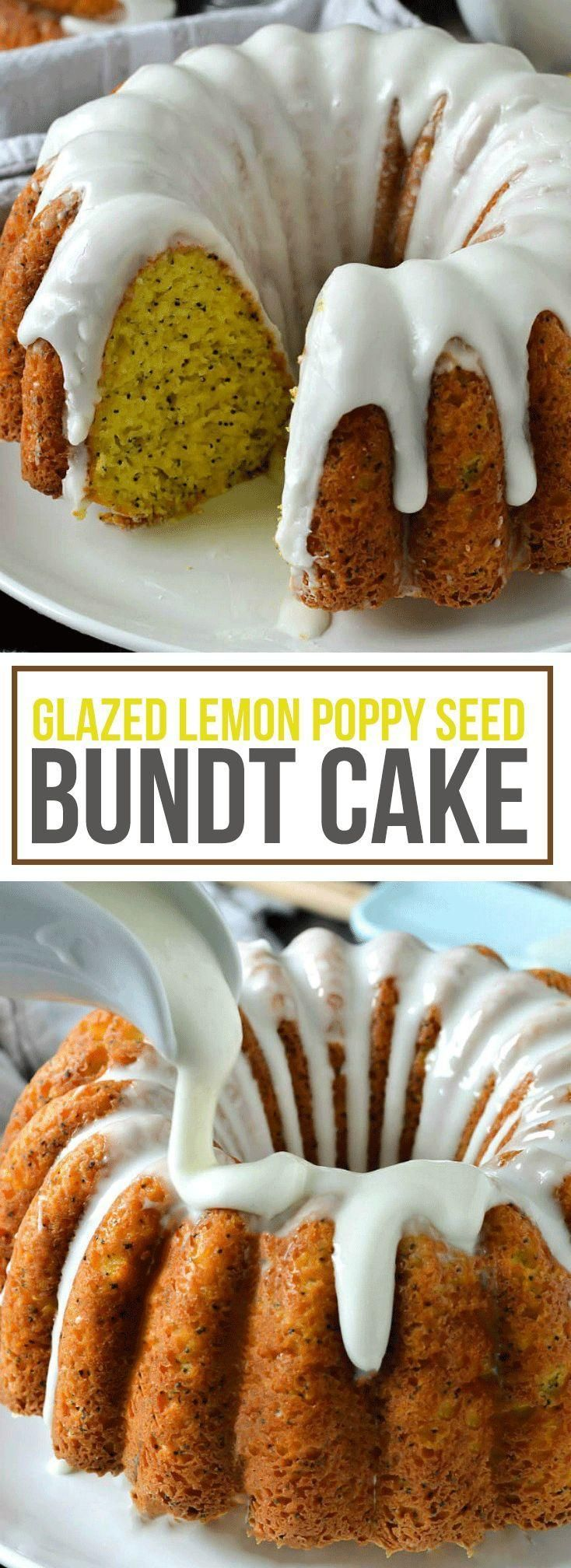 Glazed Lemon Poppy Seed Bundt Cake - Bundt Cakes -