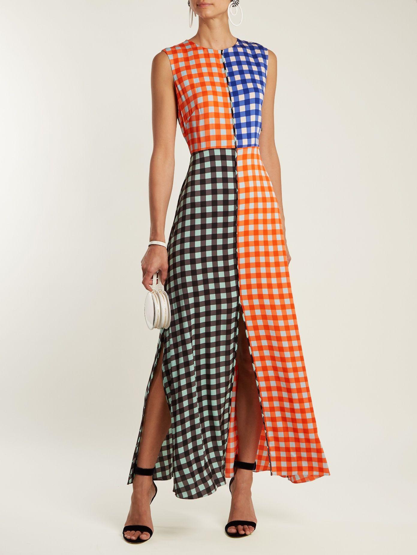 Contrasting Cossier-print stretch-silk dress Diane Von F gk4kVHG